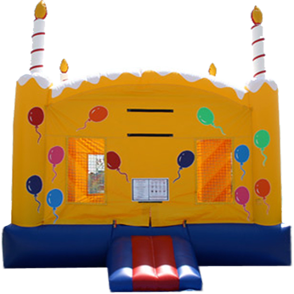 13ft x 13ft Inflatable Balloon Birthday Cake Jumper