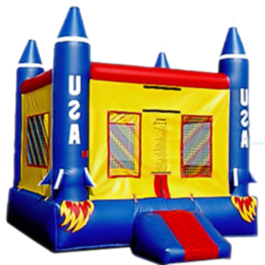 13ft x 13ft Inflatable USA Rocket Launch Jumper