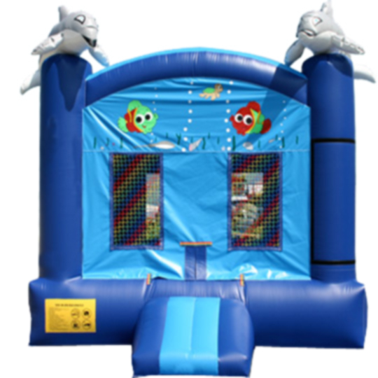 13ft x 13ft Inflatable Marine Life Dolphin Jumper