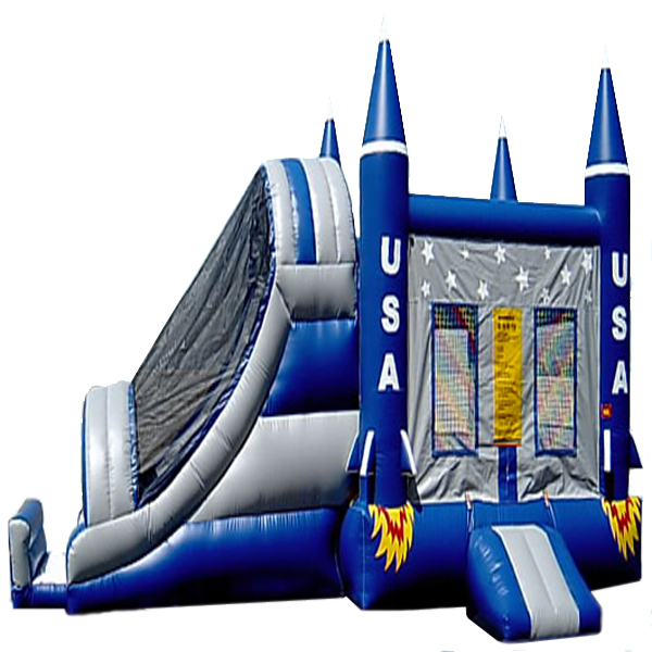 Inflatable USA Rocket Launch Box Frame Combo Jumper