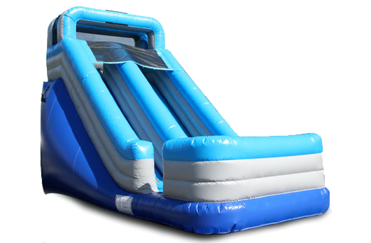 Inflatable 18' Light Blue Wet and Dry Slide