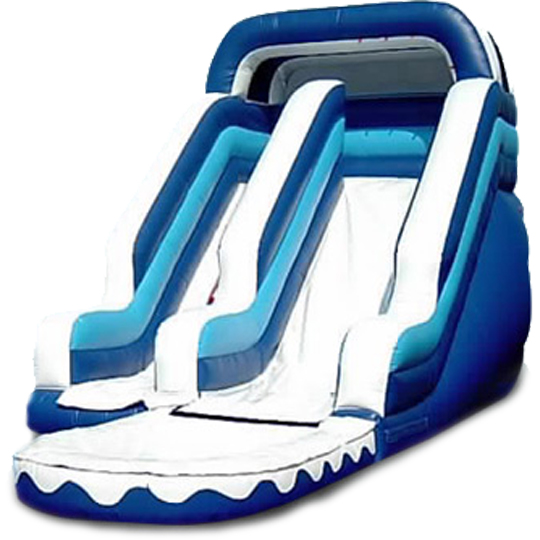 Inflatable 16' Light Blue Wet and Dry Slide