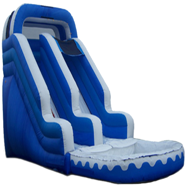 Inflatable 16' Blue and White Inflatable Water Slide