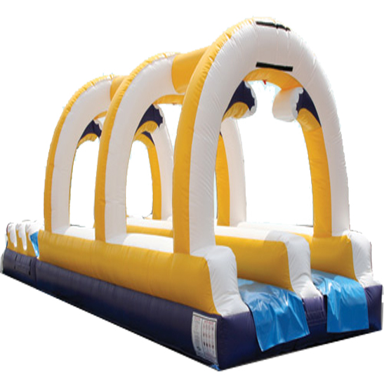 Inflatable 35' Tropical Water Slide and Slip n Slide Combo