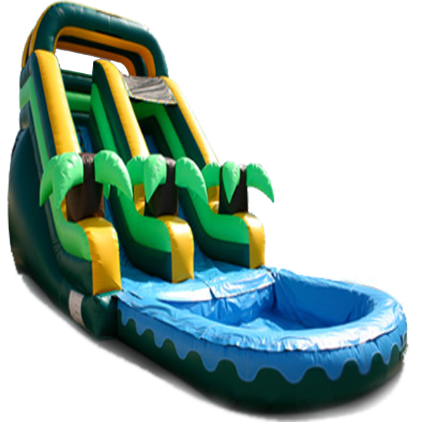 Inflatable 16' Tropical Palm Inflatable Water Slide