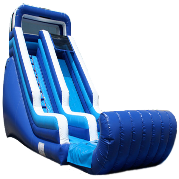 Inflatable 18' Blue and White Inflatable Water Slide