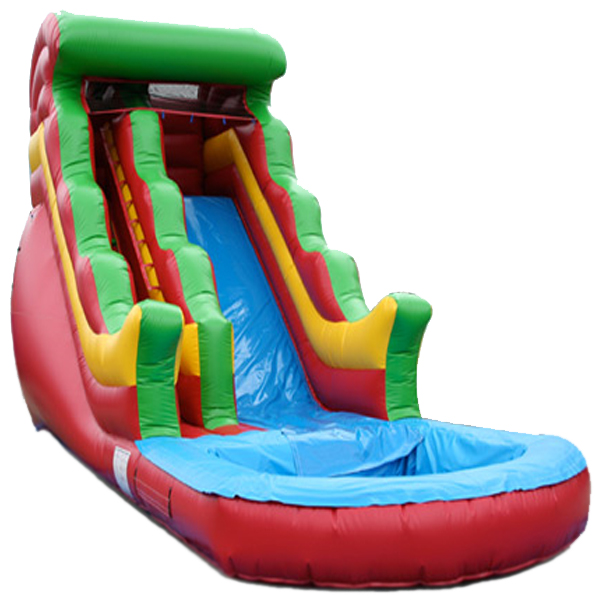 "Inflatable 16"" Rainbow Inflatable Water Slide"